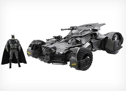 Justice League Batmobile Collectible Vehicle + Figure