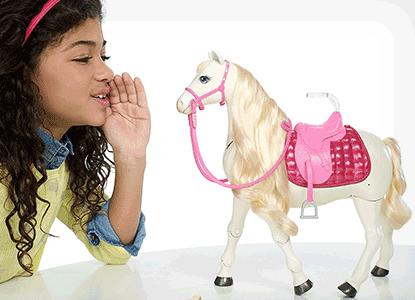 Barbie Dream Horse & Blonde Doll