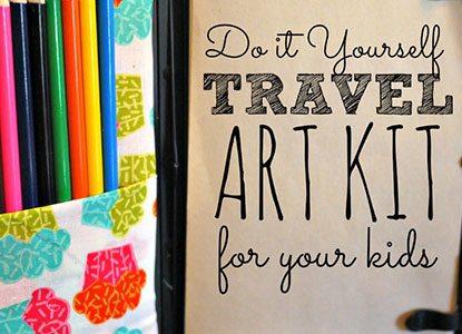 Diy Kid's Travel Art Kit