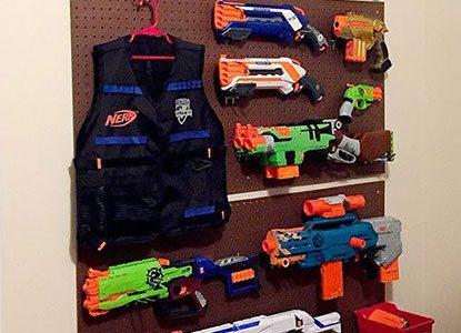 Diy: Nerf Gun Wall