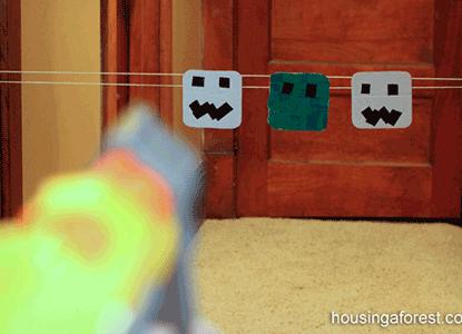 Minecraft Nerf Gun Target