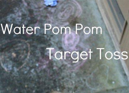 Water Pom Pom Target Toss