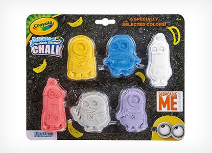 Crayola Despicable Me Washable Chalk Shapes