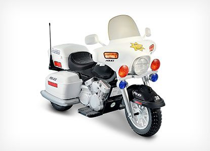 Kid-sized Police Motorcycle Riding Toy
