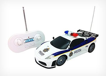 RC Police Car with Lights, Siren Sounds and Light Up Wheels