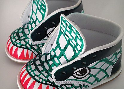 Diy Custom Painted Dinosaur Shoes