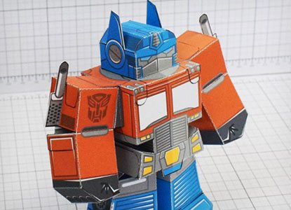 Optimus Prime Foldable Paper Templates