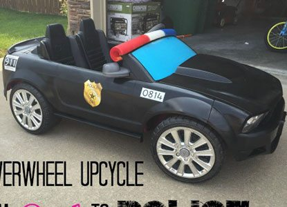 Powerwheel Upcycle From Pink to Police in Less Than $40