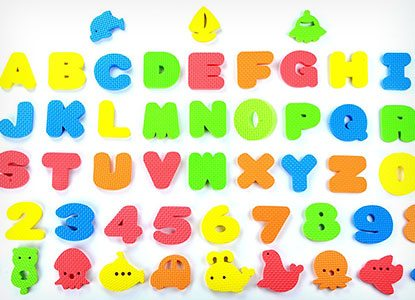 Educational Bath Letters, Numbers and More