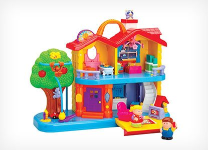 CP Toys Toddler Interactive Discovery House Playset