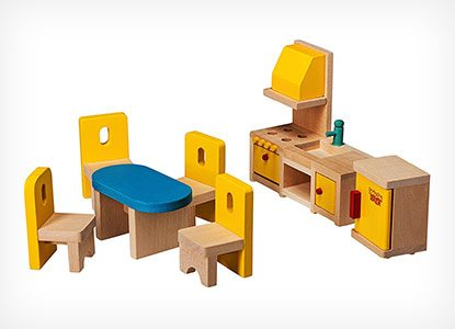 Wooden Dollhouse Furniture Set by Dragon Drew