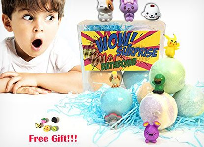 Bath Bombs for Kids with Toys Inside Surprise Gift