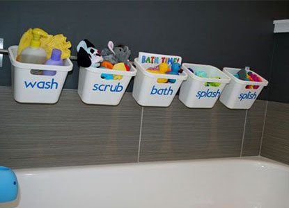 How to Store and Organize Kids Bath Toys