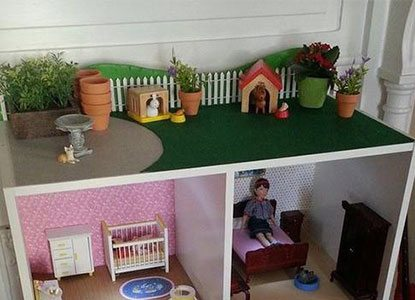 Our Dollhouse From a Target Cubeical