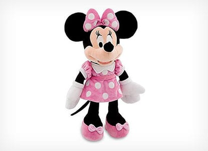 """NEW OFFICIAL DISNEY 12/"""" MINNIE MOUSE IN DRESSING GOWN SOFT PLUSH TOY"""