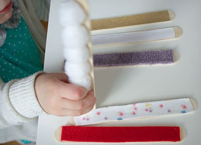 Diy Touch and Feel Sensory Sticks
