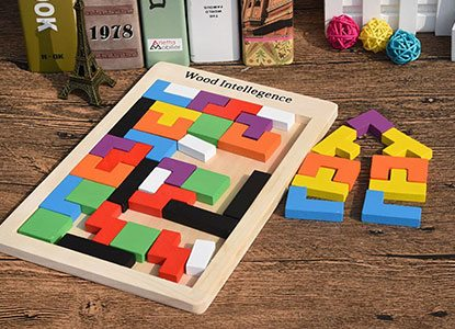 Early Education Colorful Wooden Tangram Jigsaw Puzzles