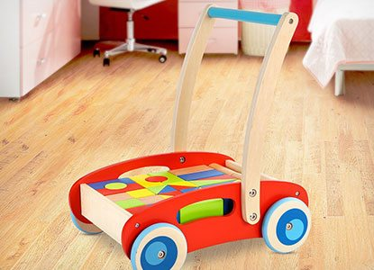 Wooden Baby Learning Walker Toddler Toys