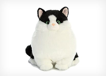 Aurora World Fat Cats Muffins Tuxedo Plush