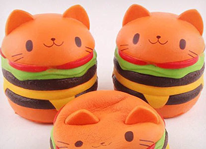 Jumbo Kawaii Cream Scented Cat Hamburger