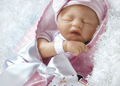 Paradise Galleries I Love Naps Sleeping Girl Reborn Doll