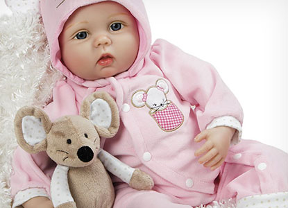 Paradise Galleries Mia Mouse Reborn Baby Doll