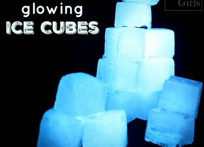 Diy Glowing Ice Cubes