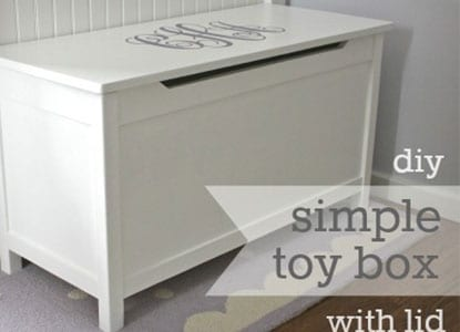 Diy Simple Modern Toybox with Lid