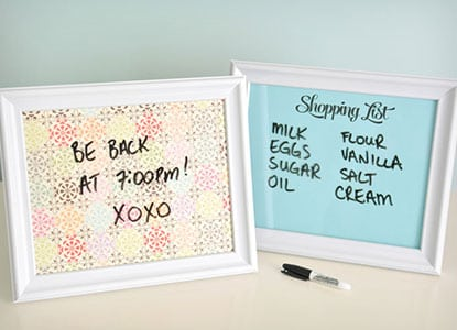 Easy Diy 5 Minute Dry Erase Board