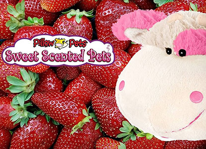 Pillow Pets Sweet Scented Strawberry Milkshake Cow