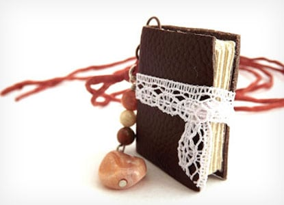 Diy Mini Book Necklace