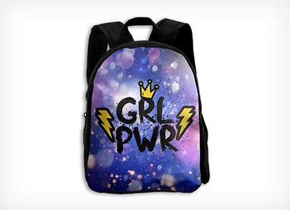 Cartoon Girl Power Backpack