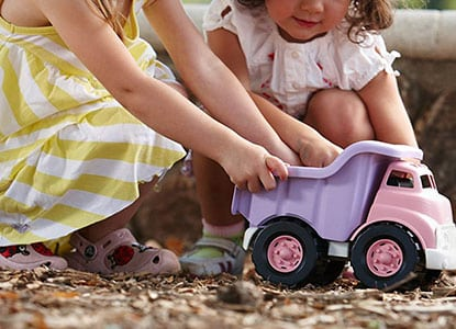 Green Toys Dump Truck in Pink Color