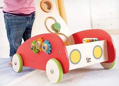 Open Box Hape Toys Toddler Baby Push /& Pull Toy Wonder Walker Cart with Blocks