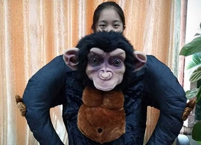 Ride On Chimpanzee Costume
