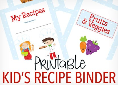 Diy Printable Recipe Binder for Kids Who Love to Cook