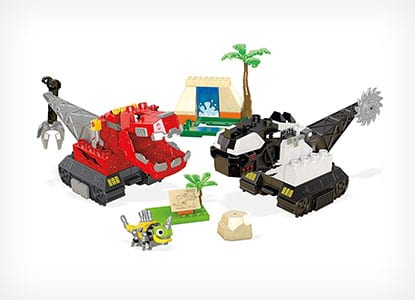 Mega Construx Dinotrux Dino Showdown Building Set