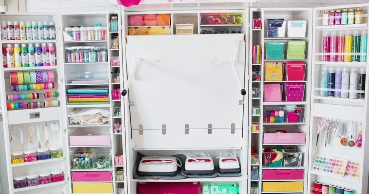 15 Dream Worthy Craft Desks And Craft Storage Cabinets Toy Notes