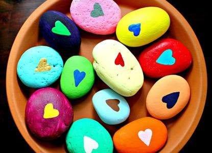 Happy Heart Rocks
